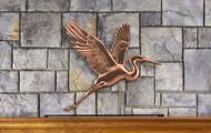 Graceful Blue Heron Mantel Weathervane