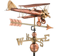 Biplane with Arrow Weathervane