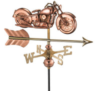 Motorcycle with Arrow Cottage Weathervane (w/roof mount)