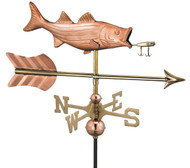 Bass with Lure and Arrow Garden Weathervane