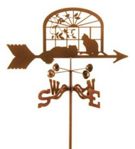 Cats in Window Weathervane with mount