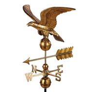 Good Directions Smithsonian 955GL Eagle Weathervane - Pure Copper with Golden Leaf Finish