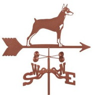 Dog-Doberman Weathervane with mount
