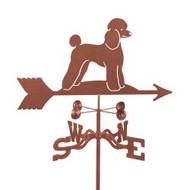 Dog-Poodle weathervane with mount