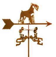 Dog-Schnauzer Weathervane with mount