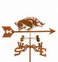 Arkansas Razorbacks Logo Weathervane with mount