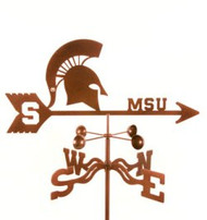 Michigan State Spartans Logo Weathervane with mount