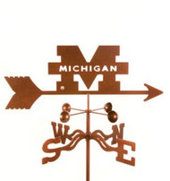 Michigan Wolverines Logo Weathervane with mount