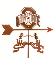 Ohio State Buckeyes Logo Weathervane With Mount