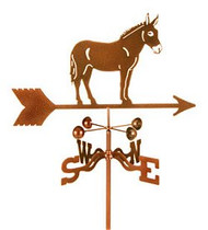Mule Weathervane With Mount