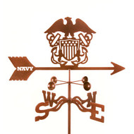 Navy Logo Weathervane With Mount