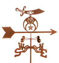 Shriner's Weathervane With Mount