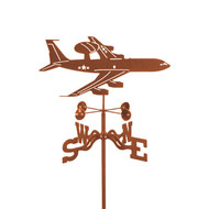 Airplane-AWACS Weathervane With Mount