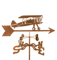 Airplane-Bi Plane Weathervane With Mount