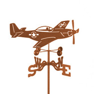 Airplane-P-51 Mustang Weathervane With Mount