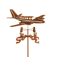Airplane-Twin Engine Weathervane With Mount