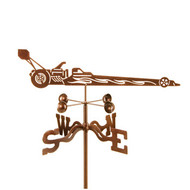 Car-Dragster Weathervane With Mount