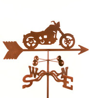 Classic Motorcycle Weathervane With Mount