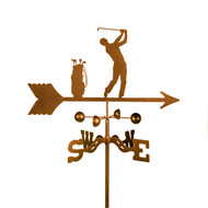 Male Golfer Weathervane With Mount