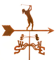 Female Golfer Weathervane With Mount