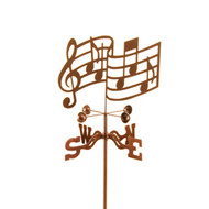 Musical Notes Weathervane With Mount