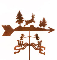 Deer-Jumping Weathervane With Mount