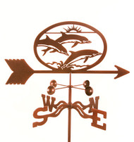 Dolphins Weathervane With Mount
