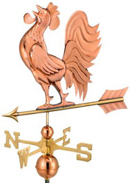 Crowing Rooster Weathervane by Good Directions - Polished Copper