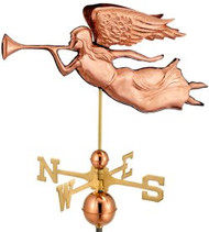 Good Directions Angel Weathervane - Polished Copper