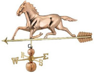 Good Directions Large Horse Estate Weathervane - Polished Copper