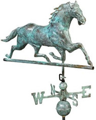 Good Directions Horse Weathervane - Blue Verde Copper