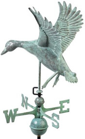 Good Directions Landing Duck Weathervane - Blue Verde Copper