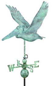 Good Directions Pelican Weathervane - Blue Verde Copper