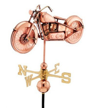Good Directions Motorcycle Weathervane - Polished Copper