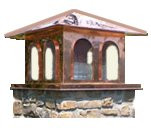 Copper Chimney Cap - 30 in. Mediterranian