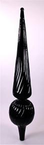 Finial - Mini Floretine- Black Gloss