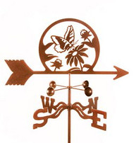 Butterfly & Flowers Weathervane with mount