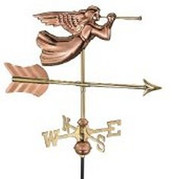 Weathervane - Angel - Copper With Mount