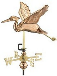 Weathervane - Blue Heron - Copper With Mount