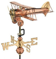 Weathervane - Airplane/Biplane - Copper With Mount