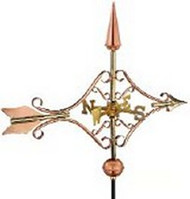 Weathervane - Victorian Arrow - Copper - Polished With Mount
