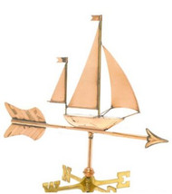 Weathervane - Polished - Cottage Sailboat