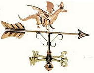 Weathervane - Polished - Cottage Dragon