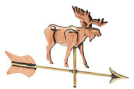 Weathervane - Polished - Cottage Moose w/ Arrow