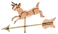 Weathervane - Polished - Cottage 3-D Jumping Deer w/ Arrow