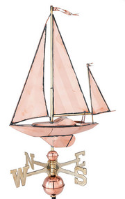 Weathervane - Polished - Sailboat