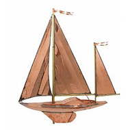 Weathervane - Polished - Large Sailboat