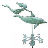 Weathervane - Large Dolphin & Mermaid