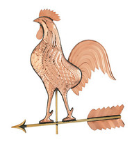 Big Rooster Weathervane - Polished