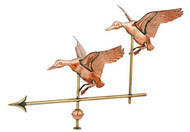 Weathervane - Polished - Double Duck